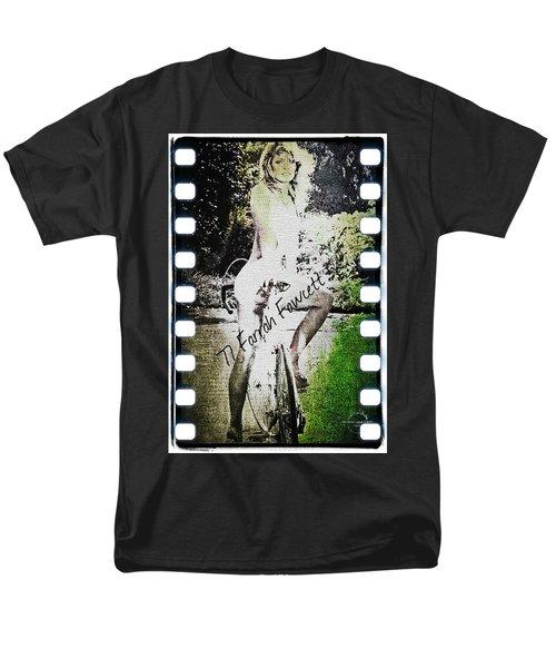 '77 Farrah Fawcett Men's T-Shirt  (Regular Fit) by Absinthe Art By Michelle LeAnn Scott
