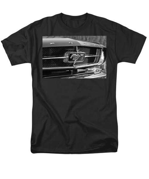 1965 Shelby Prototype Ford Mustang Grille Emblem Men's T-Shirt  (Regular Fit) by Jill Reger
