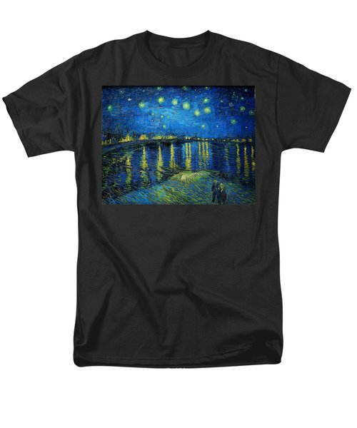 Starry Night Over The Rhone Men's T-Shirt  (Regular Fit) by Vincent van Gogh