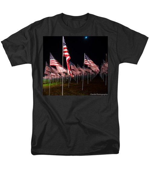 Men's T-Shirt  (Regular Fit) featuring the digital art 9-11 Flags by Gandz Photography