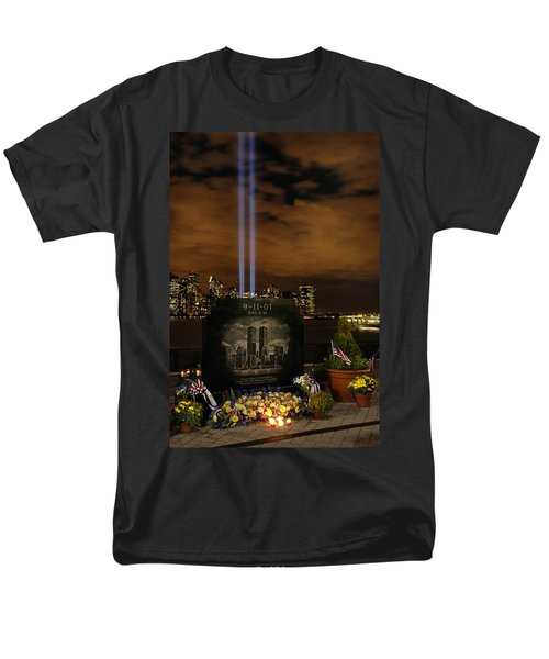 9-11 Monument Men's T-Shirt  (Regular Fit) by Dave Mills