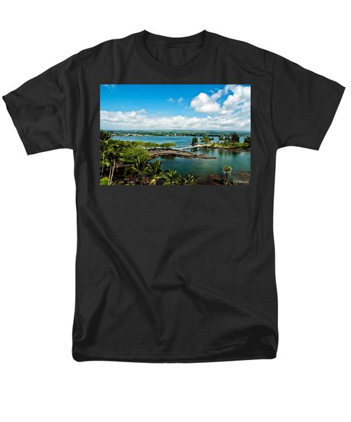 A Beautiful Day Over Hilo Bay Men's T-Shirt  (Regular Fit) by Christopher Holmes