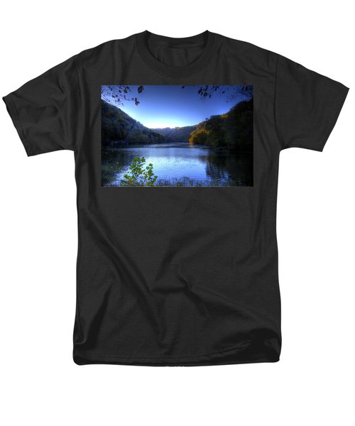 Men's T-Shirt  (Regular Fit) featuring the photograph A Blue Lake In The Woods by Jonny D