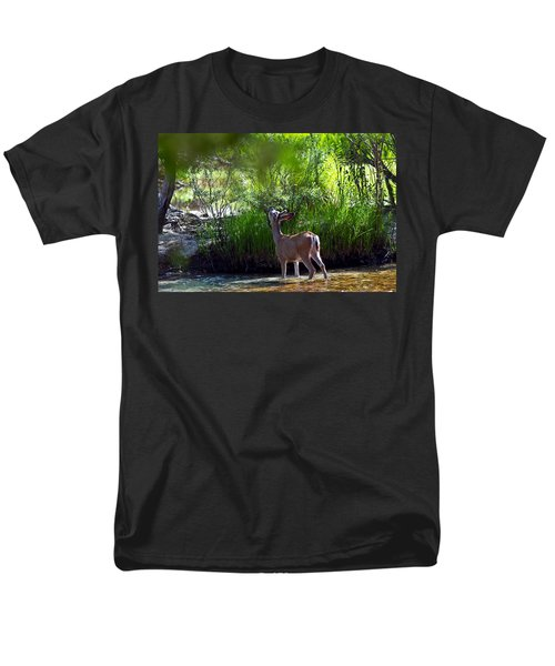 A Buck Feeding Men's T-Shirt  (Regular Fit) by Brian Williamson