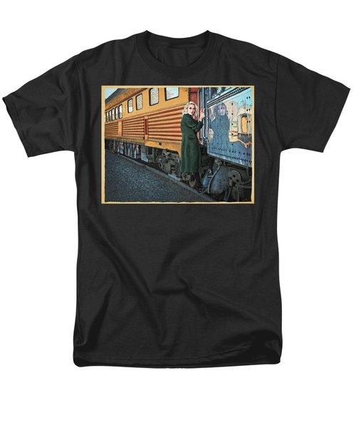 A Departure Men's T-Shirt  (Regular Fit) by Meg Shearer
