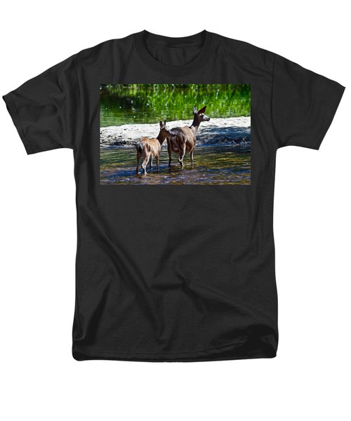 A Doe And Fawn Men's T-Shirt  (Regular Fit) by Brian Williamson