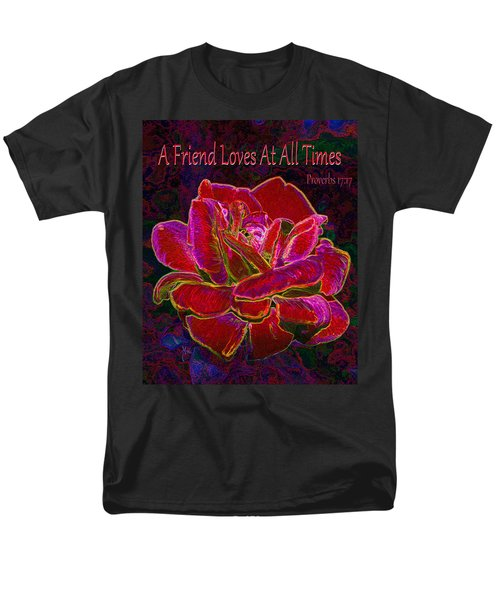A Friend Loves At All Times Men's T-Shirt  (Regular Fit) by Michele Avanti
