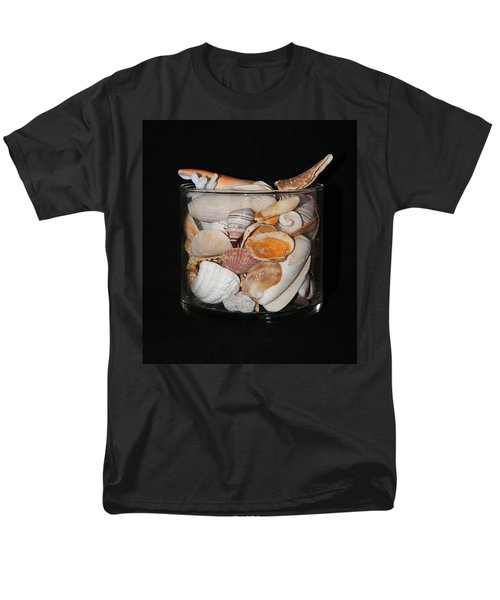 Men's T-Shirt  (Regular Fit) featuring the photograph A Glass Of Seashells by Ester  Rogers