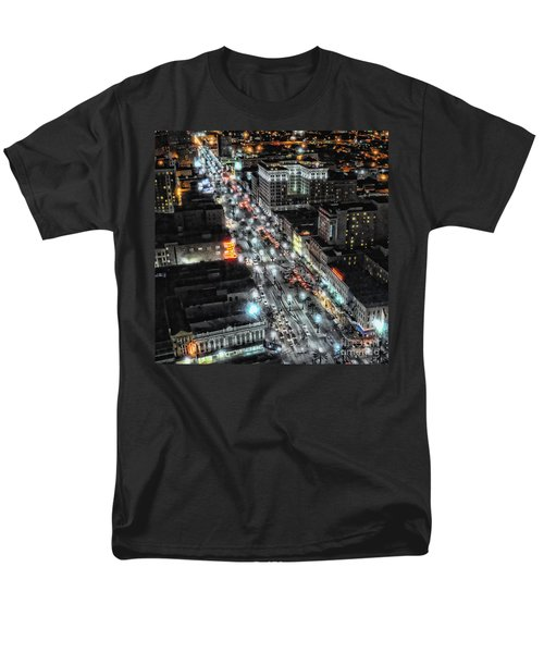 A Gothic Night In New Orleans On Canal Street Men's T-Shirt  (Regular Fit) by Kathleen K Parker