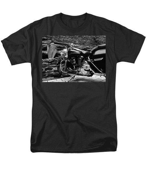 A Harley Davidson And The Virgin Mary Men's T-Shirt  (Regular Fit) by Andy Prendy