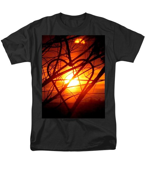 A Heart Filled With Light Men's T-Shirt  (Regular Fit) by Renee Michelle Wenker