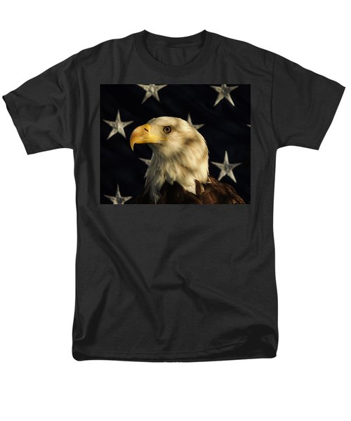Men's T-Shirt  (Regular Fit) featuring the photograph A Patriot by Raymond Salani III