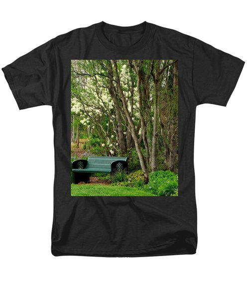 Men's T-Shirt  (Regular Fit) featuring the photograph A Place To Sit by Rodney Lee Williams