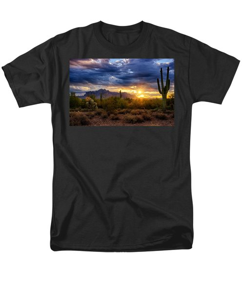 A Sonoran Desert Sunrise Men's T-Shirt  (Regular Fit) by Saija  Lehtonen