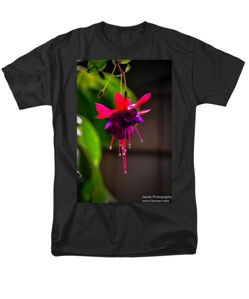 Men's T-Shirt  (Regular Fit) featuring the photograph A Special Red Flower  by Gandz Photography