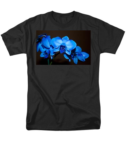 Men's T-Shirt  (Regular Fit) featuring the photograph A Stem Of Beautiful Blue Orchids by Sherry Hallemeier
