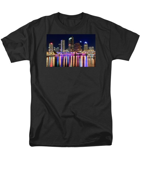 A Tampa Bay Night Men's T-Shirt  (Regular Fit) by Frozen in Time Fine Art Photography