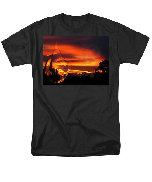 Men's T-Shirt  (Regular Fit) featuring the digital art A Teardrop In Time by Joyce Dickens
