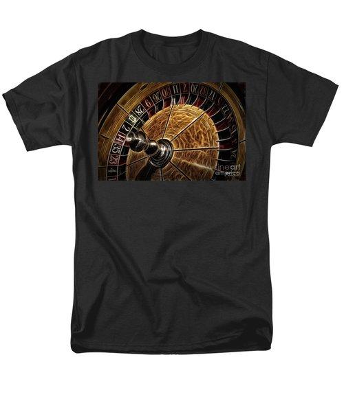 Men's T-Shirt  (Regular Fit) featuring the photograph A Virginia City Roulette Wheel by Brad Allen Fine Art