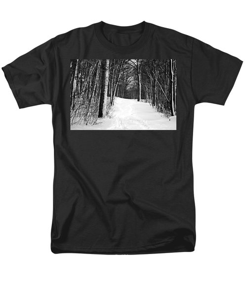 A Walk In Snow Men's T-Shirt  (Regular Fit) by Joe Faherty