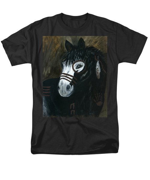 Men's T-Shirt  (Regular Fit) featuring the painting A War Pony by Barbie Batson