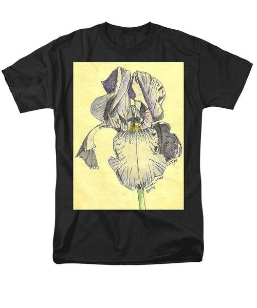 Men's T-Shirt  (Regular Fit) featuring the photograph A Wild Lavender Louisiana Iris by Michael Hoard