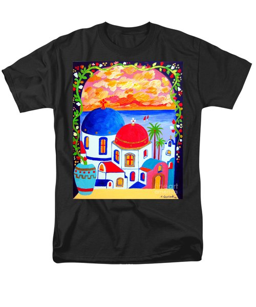 A Window Over Santorini Men's T-Shirt  (Regular Fit)