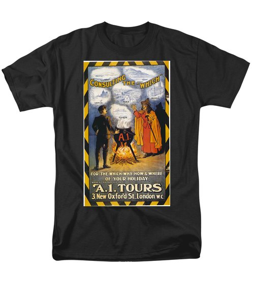 Men's T-Shirt  (Regular Fit) featuring the photograph A1 Tours Vintage Travel Poster by Gianfranco Weiss