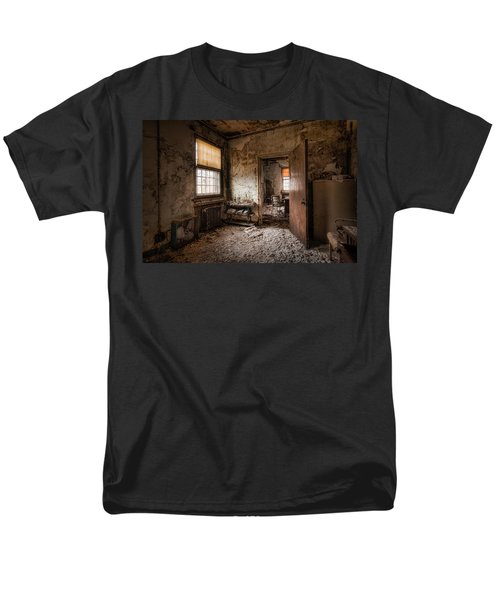 Abandoned Asylum - Haunting Images - What Once Was Men's T-Shirt  (Regular Fit) by Gary Heller