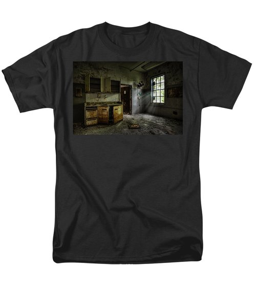 Abandoned Building - Old Asylum - Open Cabinet Doors Men's T-Shirt  (Regular Fit) by Gary Heller