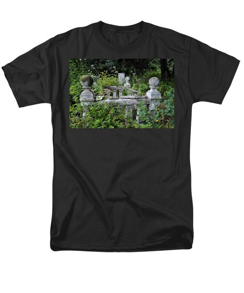 Men's T-Shirt  (Regular Fit) featuring the photograph Abandoned Cemetery 2 by Cathy Mahnke