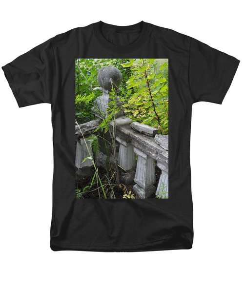 Men's T-Shirt  (Regular Fit) featuring the photograph Abandoned Cemetery by Cathy Mahnke