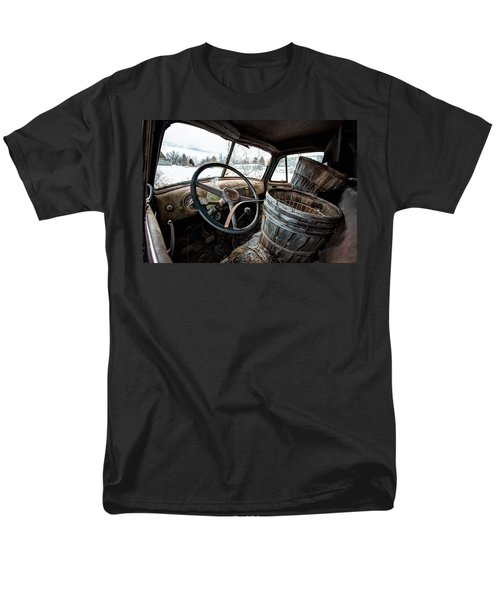 Men's T-Shirt  (Regular Fit) featuring the photograph Abandoned Chevrolet Truck - Inside Out by Gary Heller