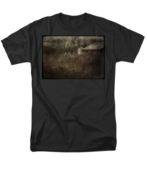 Men's T-Shirt  (Regular Fit) featuring the photograph Abandoned Farm by Cynthia Lassiter