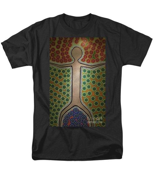 Men's T-Shirt  (Regular Fit) featuring the photograph Aboriginal Inspirations 21 by Mariusz Czajkowski