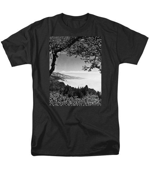 Men's T-Shirt  (Regular Fit) featuring the photograph Above Nepenthe In Big Sur by Joseph J Stevens