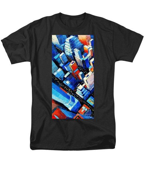 Abstract New York Sky View Men's T-Shirt  (Regular Fit)