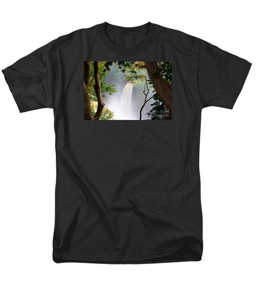 Men's T-Shirt  (Regular Fit) featuring the photograph Adirondacks Waterfall by Patti Whitten