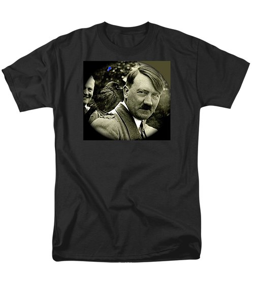 Adolf Hitler And A Feathered Friend C.1941-2008 Men's T-Shirt  (Regular Fit) by David Lee Guss