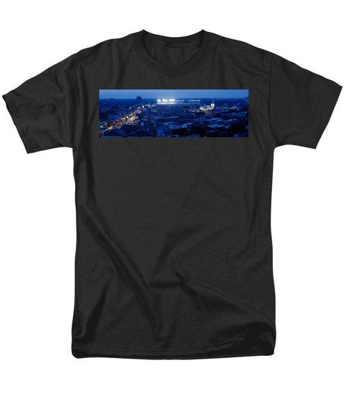 Aerial View Of A City, Wrigley Field Men's T-Shirt  (Regular Fit) by Panoramic Images