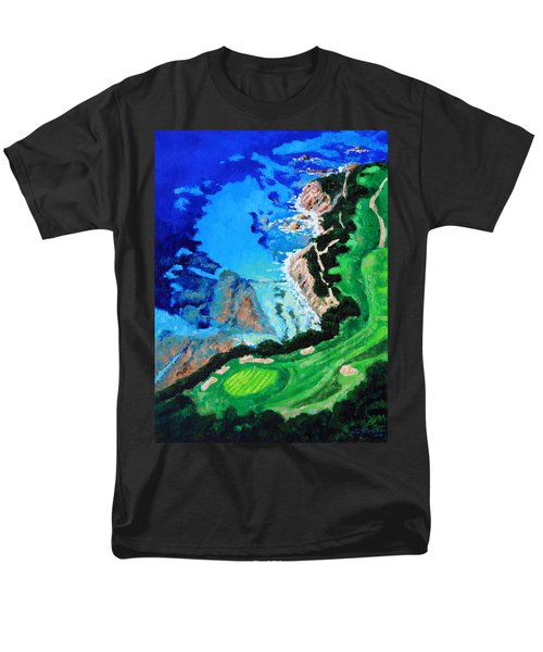 Aerial View Of Pebble Beach Men's T-Shirt  (Regular Fit) by John Lautermilch