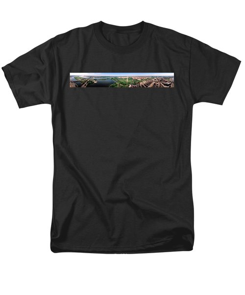 Aerial Washington Dc Usa Men's T-Shirt  (Regular Fit) by Panoramic Images