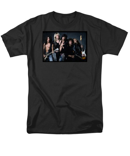 Aerosmith - Let The Music Do The Talking 1980s Men's T-Shirt  (Regular Fit) by Epic Rights