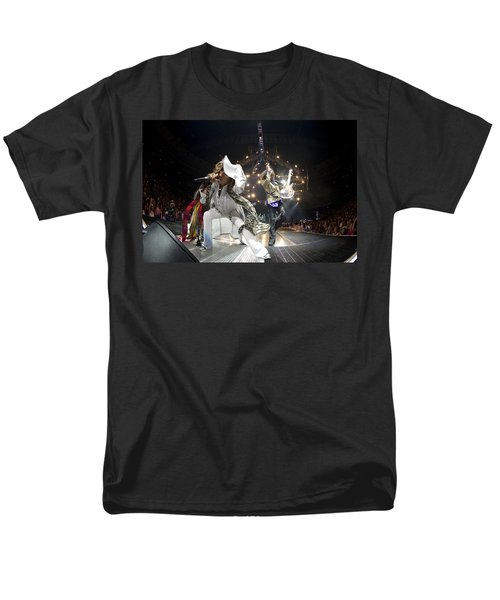 Aerosmith - On Stage 2012 Men's T-Shirt  (Regular Fit) by Epic Rights