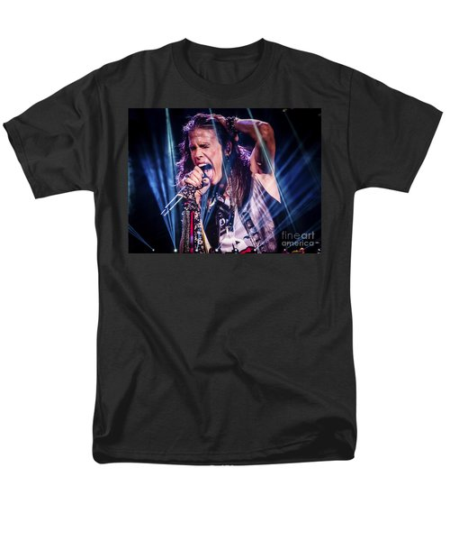 Aerosmith Steven Tyler Singing In Concert Men's T-Shirt  (Regular Fit) by Jani Bryson