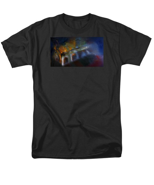 Men's T-Shirt  (Regular Fit) featuring the painting Aflame by Lisa Kaiser