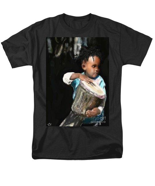African Drummer Boy Men's T-Shirt  (Regular Fit) by Vannetta Ferguson