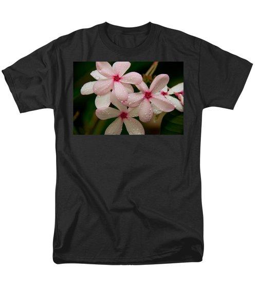 After The Rain - Pink Plumeria Men's T-Shirt  (Regular Fit) by John Black