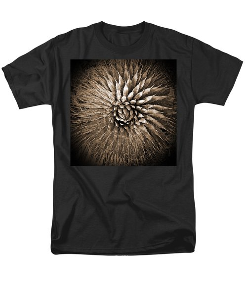 Agave Spikes Sepia Men's T-Shirt  (Regular Fit) by Alan Socolik