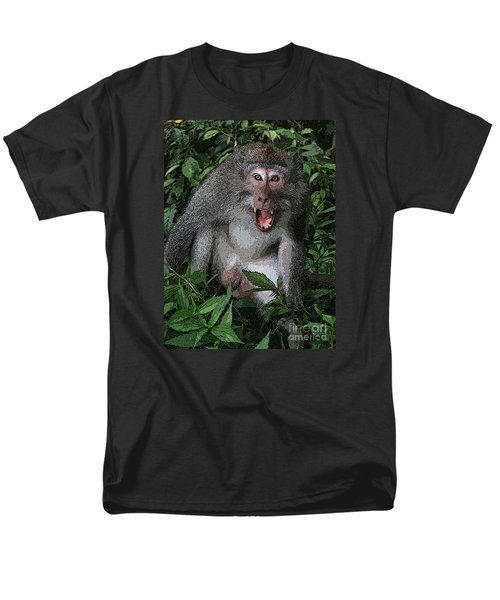 Aggressive Monkey From Bali Men's T-Shirt  (Regular Fit) by Sergey Lukashin